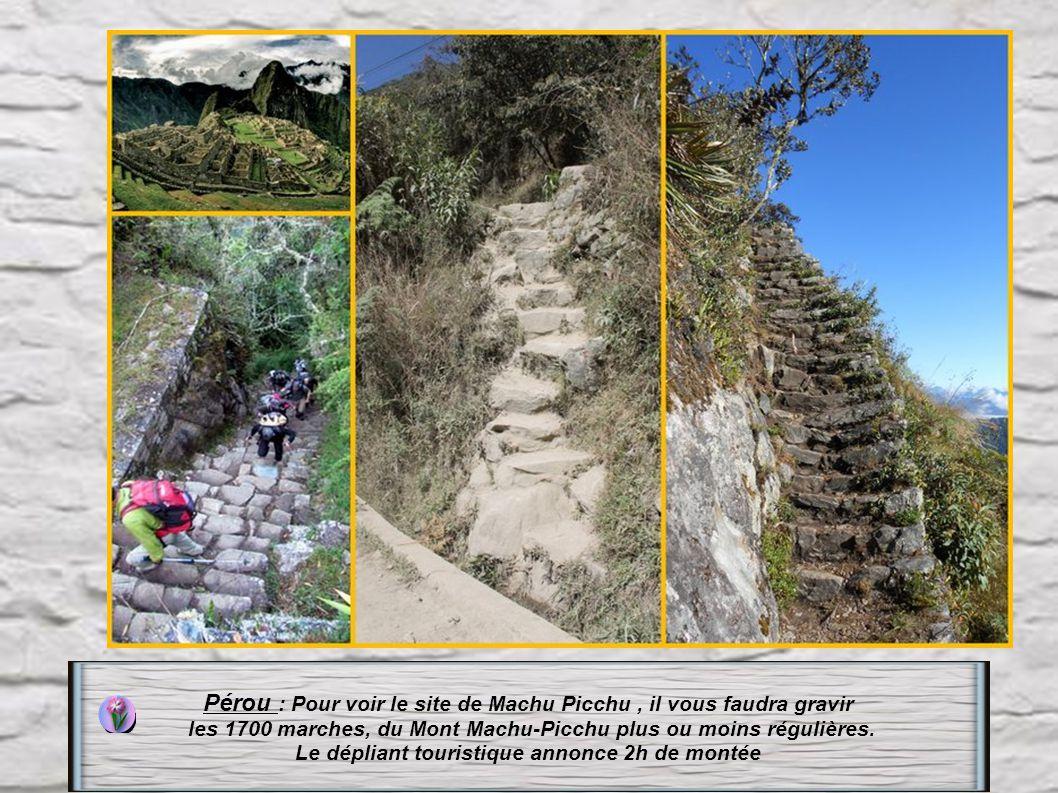 Pérou : Pour voir le site de Machu Picchu , il vous faudra gravir