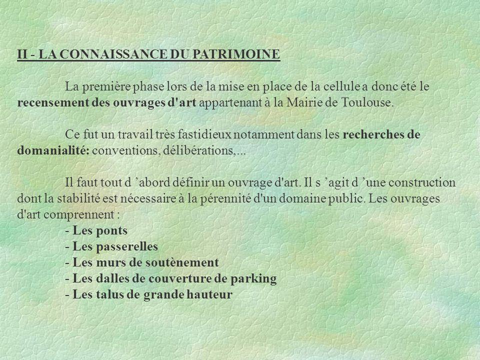 II - LA CONNAISSANCE DU PATRIMOINE