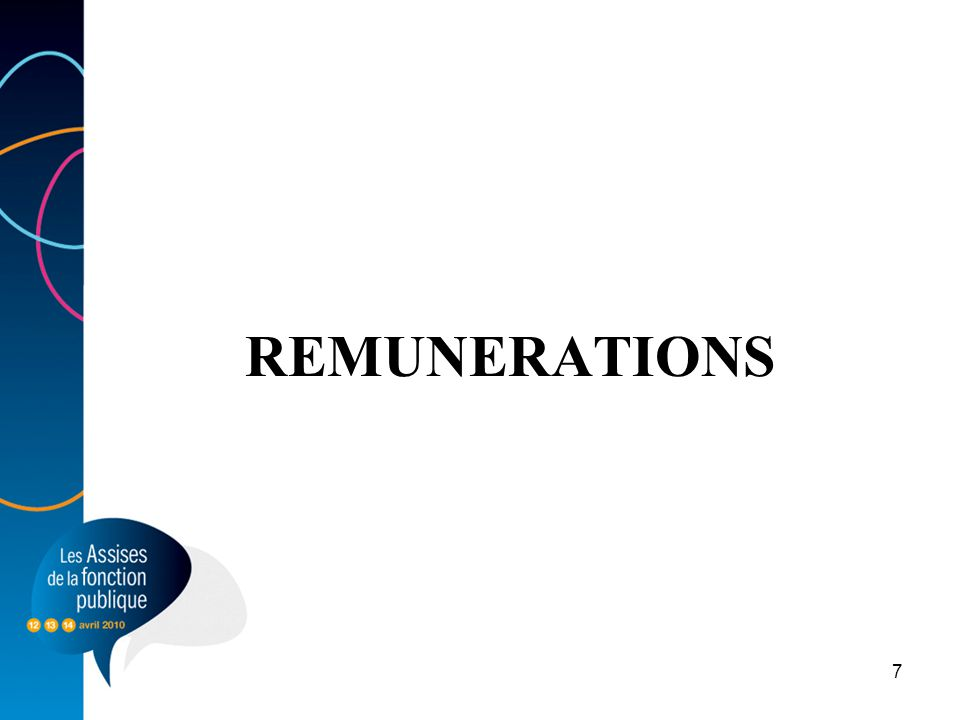 REMUNERATIONS 7
