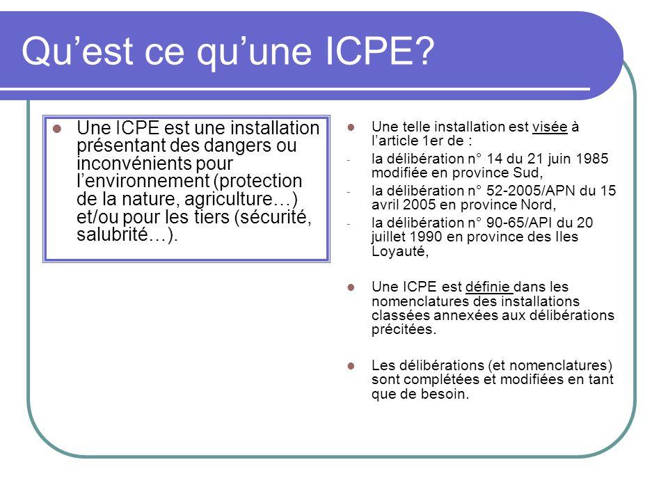 Qu'est ce qu'une ICPE