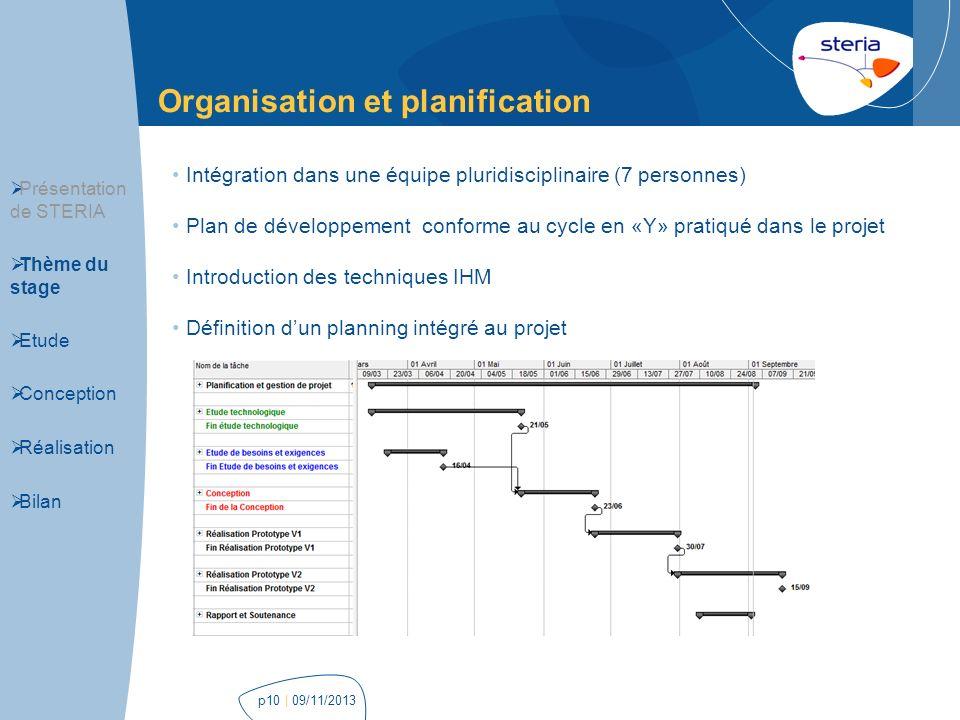 Organisation et planification