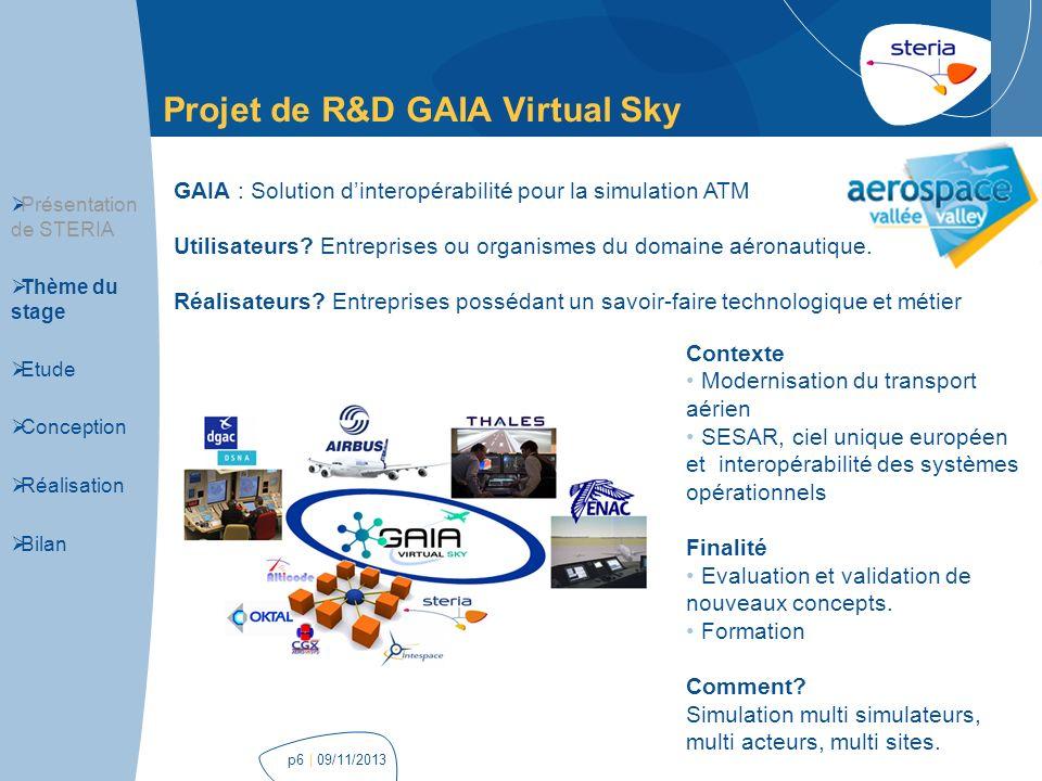 Projet de R&D GAIA Virtual Sky