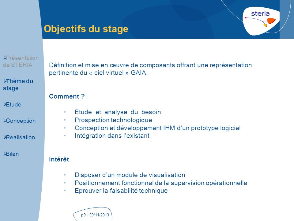 Visualisation et supervision op rationnelle du ciel virtuel gaia ppt t l ch - Definition de conception ...