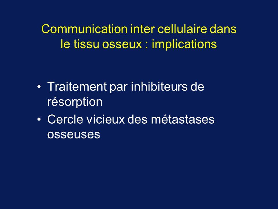 Communication inter cellulaire dans le tissu osseux : implications