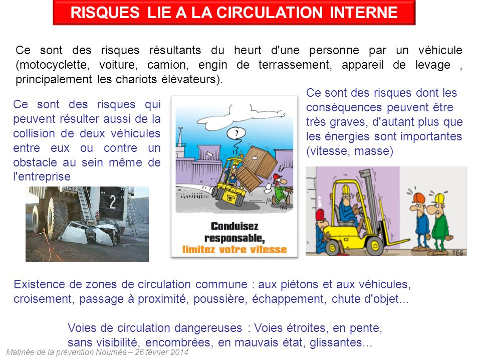 RISQUES LIE A LA CIRCULATION INTERNE