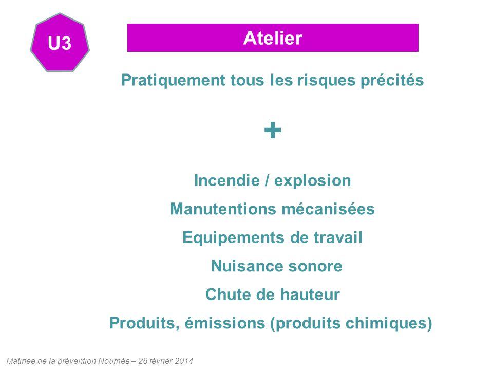 + Atelier U3 Pratiquement tous les risques précités