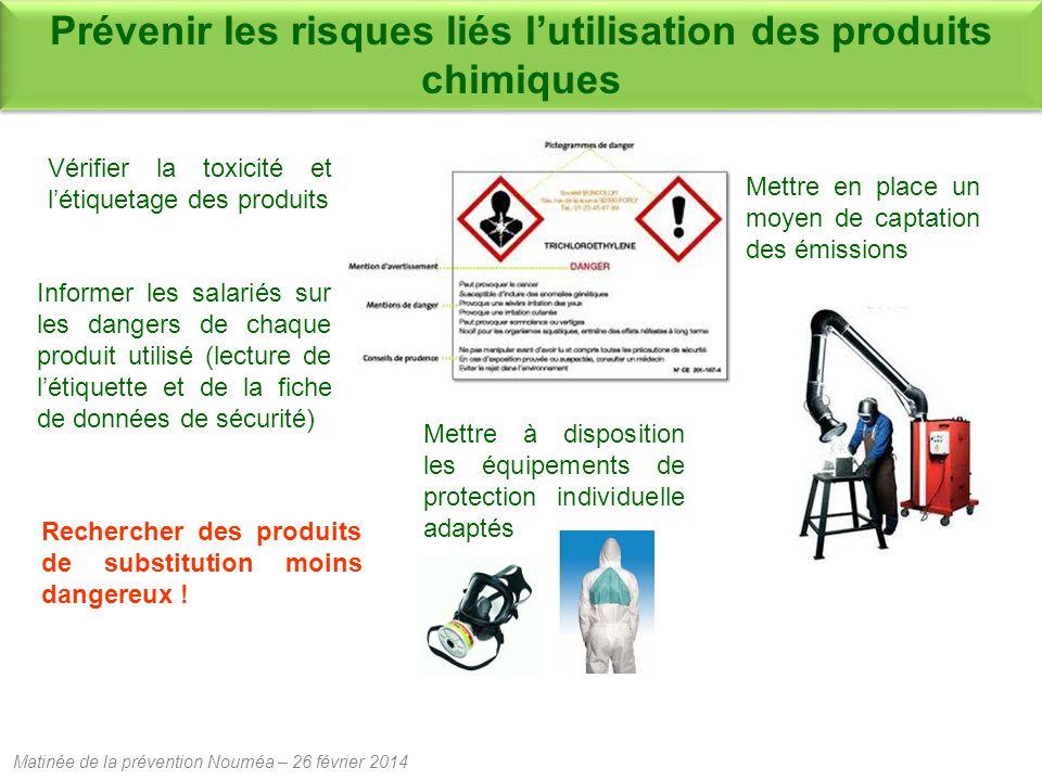 Prévenir les risques liés l'utilisation des produits chimiques