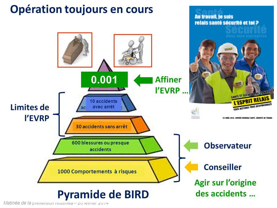 Opération toujours en cours Pyramide de BIRD