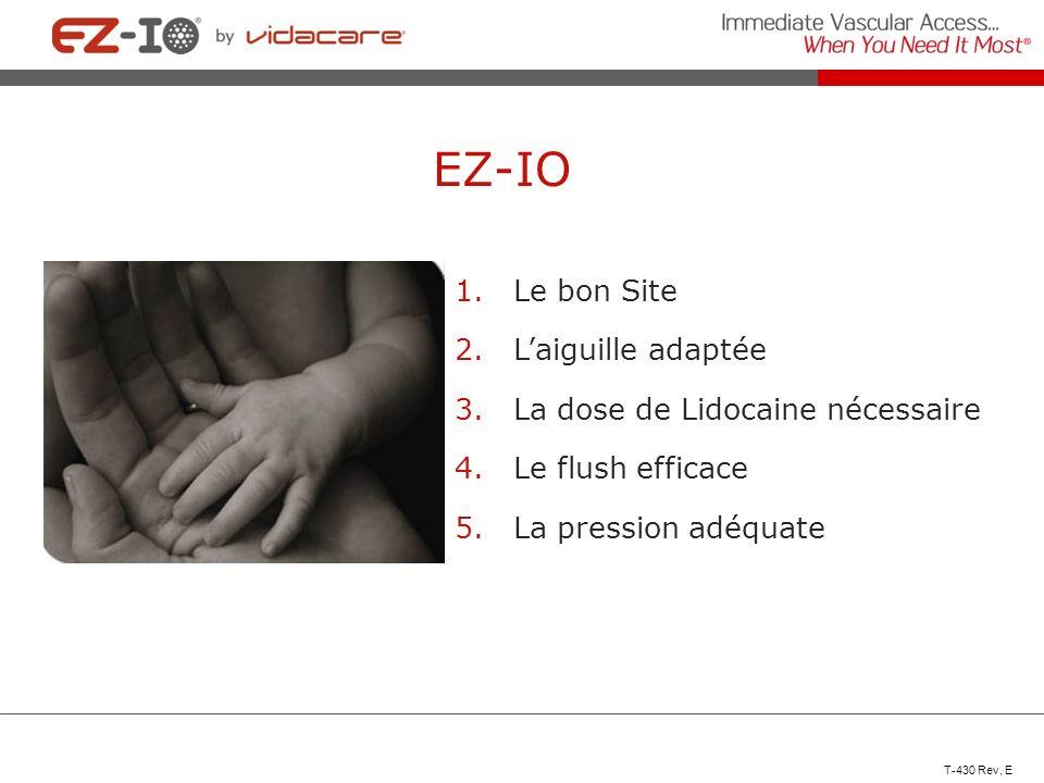 EZ-IO Le bon Site L'aiguille adaptée La dose de Lidocaine nécessaire