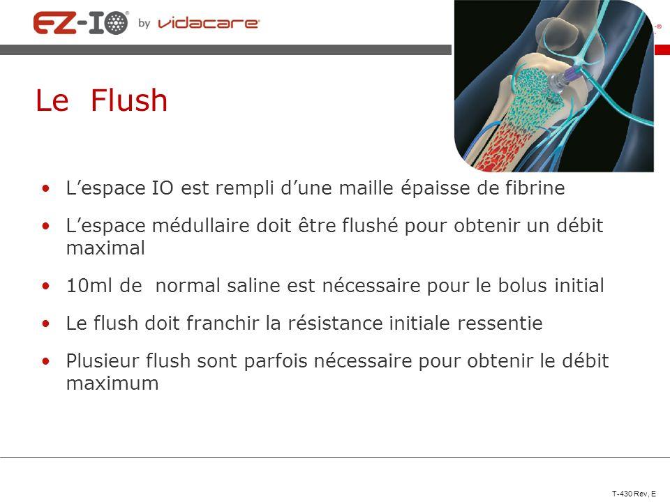Le Flush L'espace IO est rempli d'une maille épaisse de fibrine
