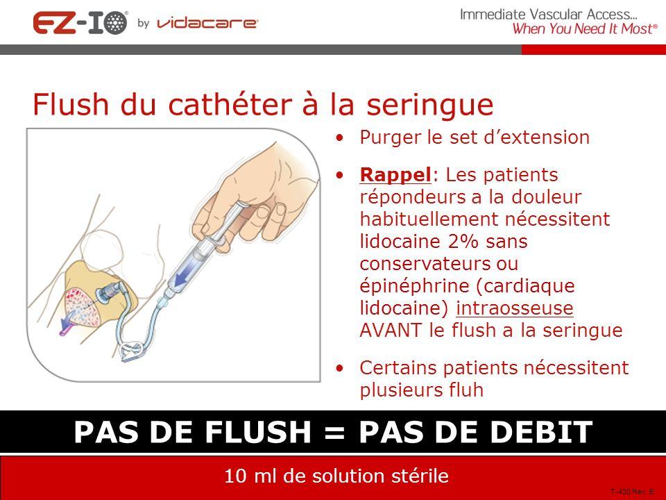 Flush du cathéter à la seringue