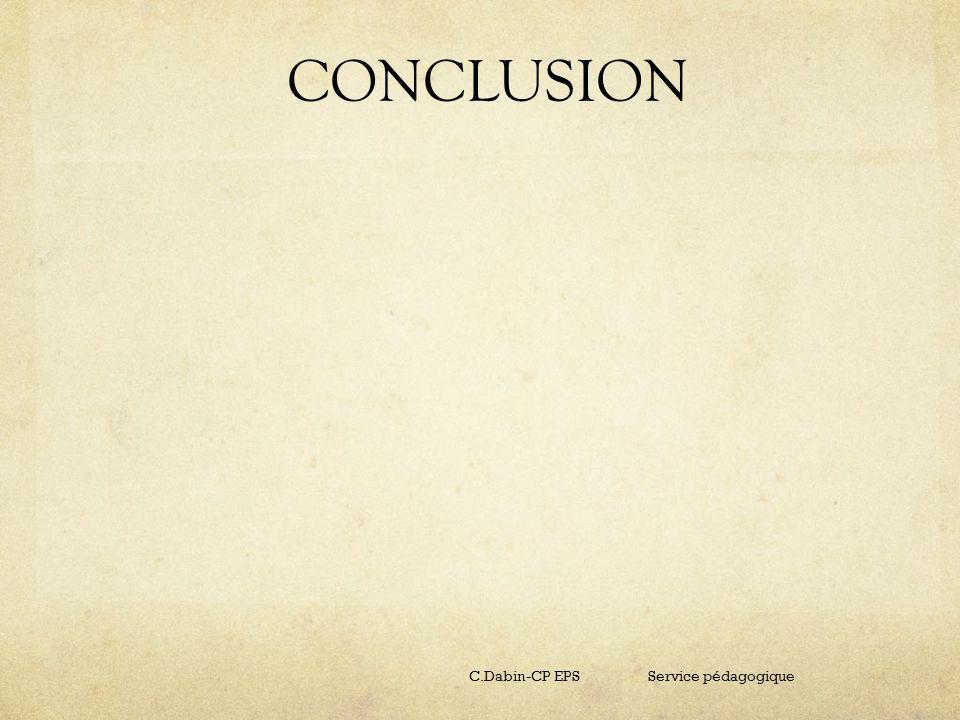 CONCLUSION C.Dabin-CP EPS Service pédagogique