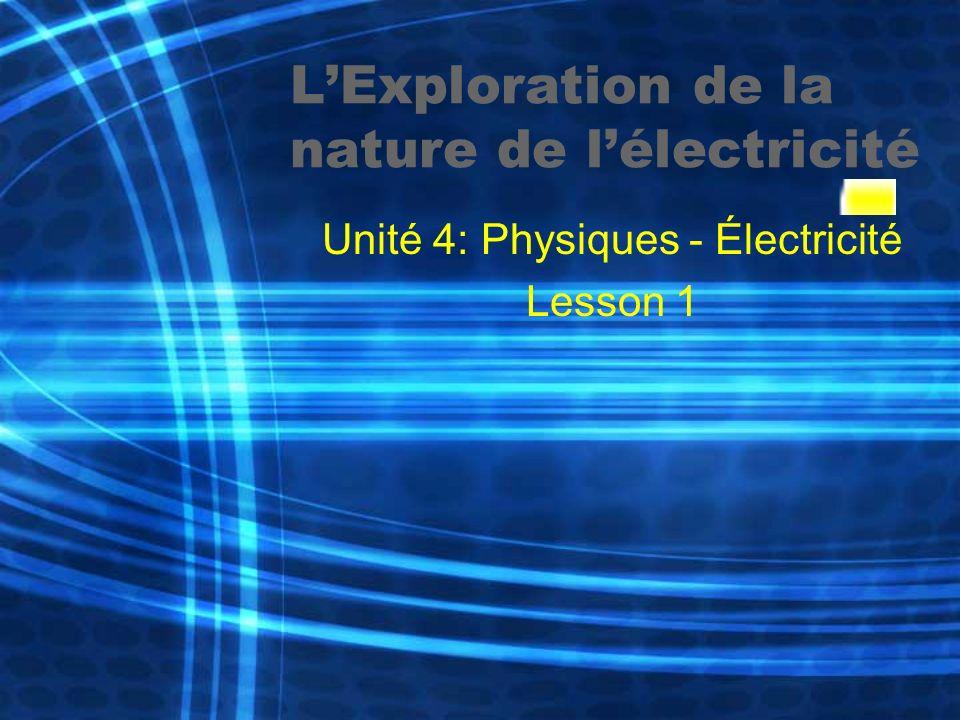 L'Exploration de la nature de l'électricité