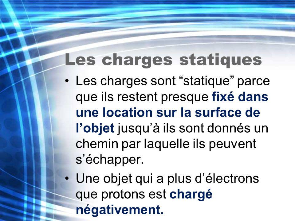 Les charges statiques