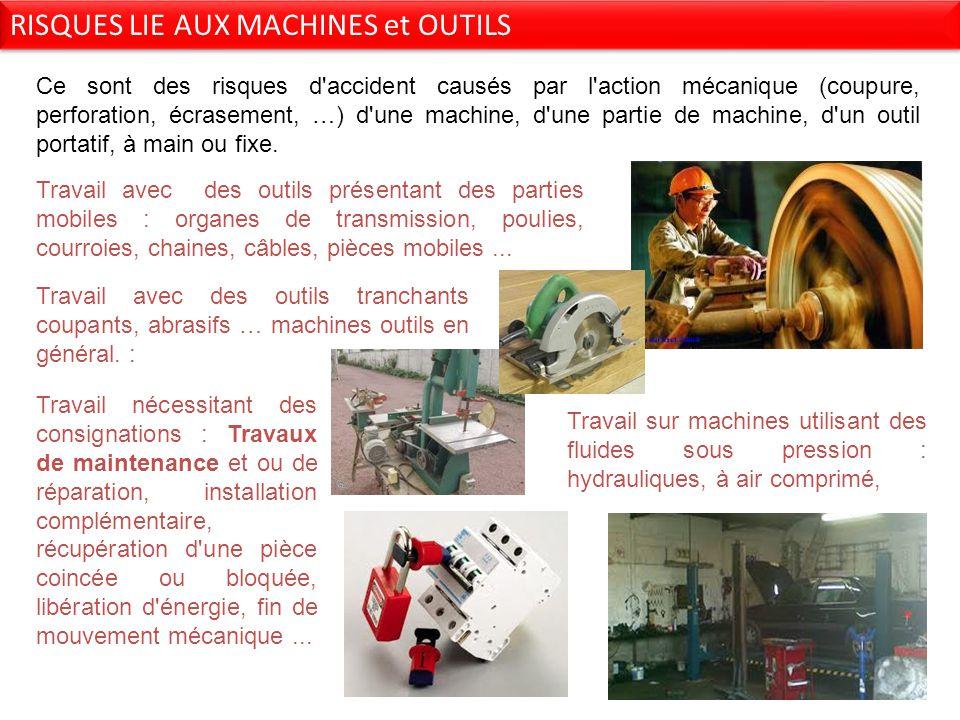 RISQUES LIE AUX MACHINES et OUTILS