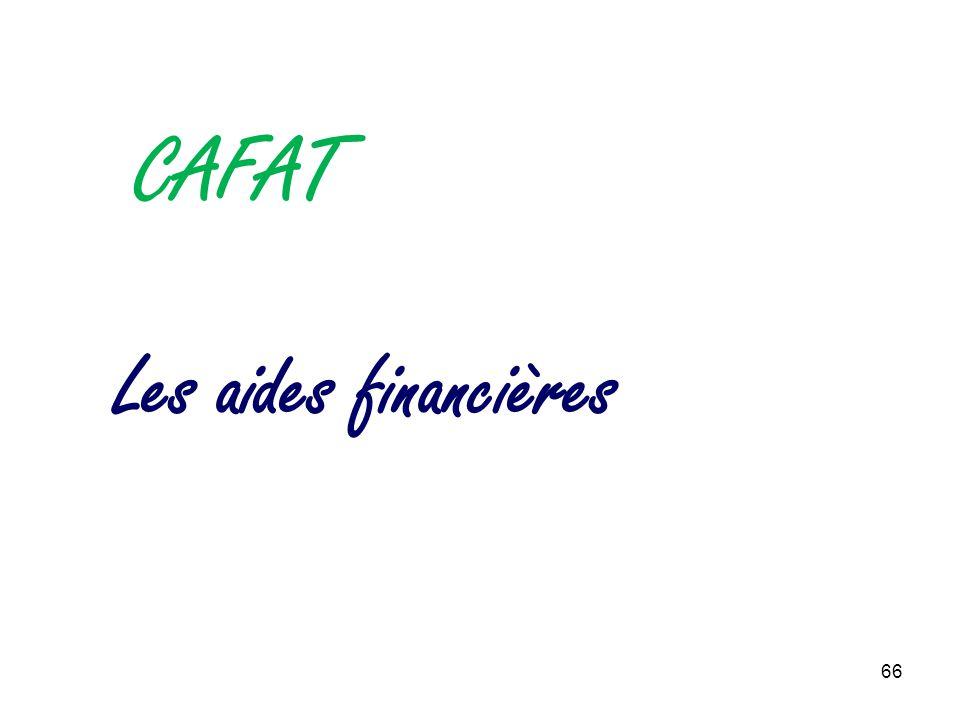 CAFAT Les aides financières 66