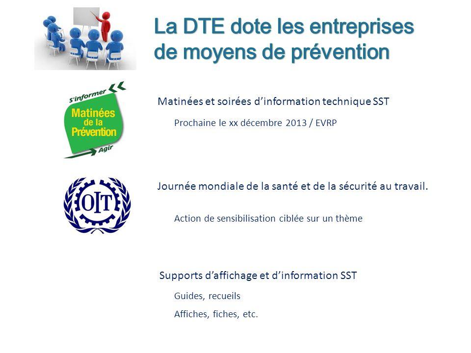 La DTE dote les entreprises de moyens de prévention