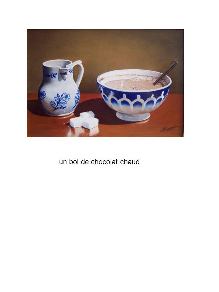 un bol de chocolat chaud