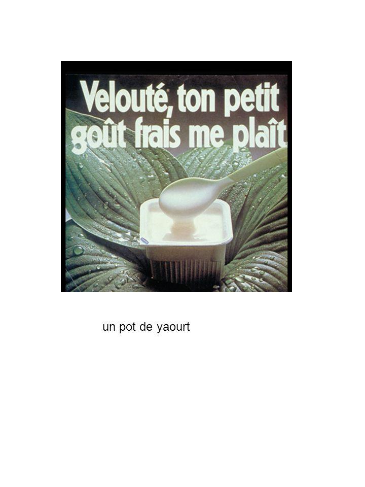 un pot de yaourt