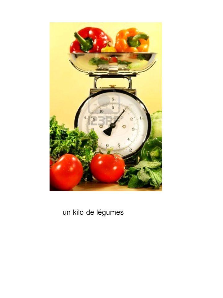 un kilo de légumes