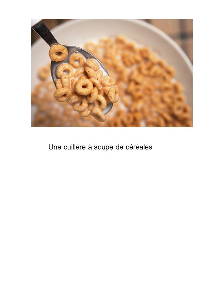 Une cuillère à soupe de céréales