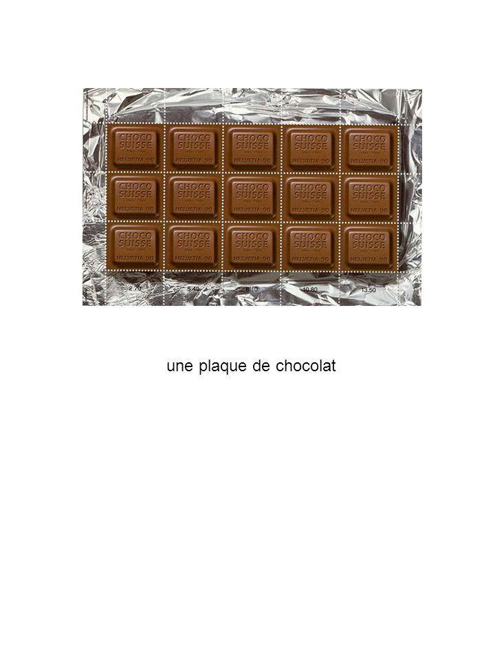 une plaque de chocolat