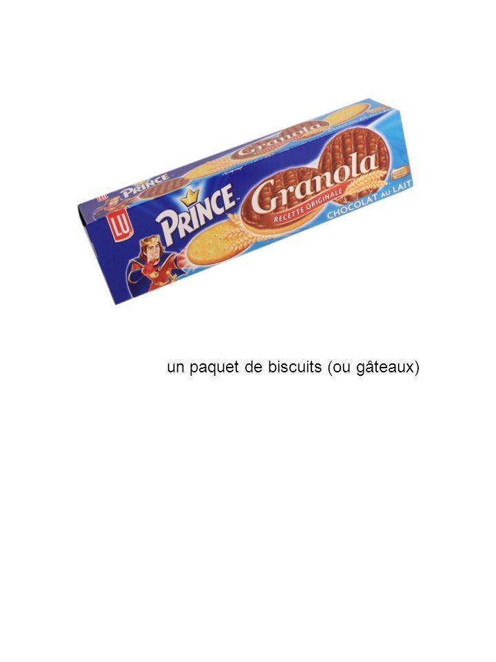 un paquet de biscuits (ou gâteaux)