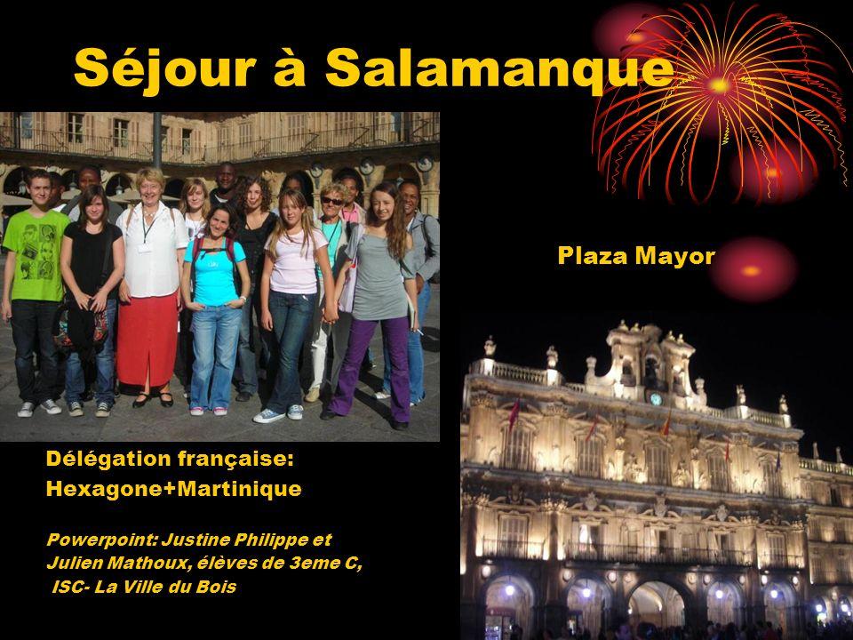 Séjour à Salamanque Plaza Mayor Délégation française: