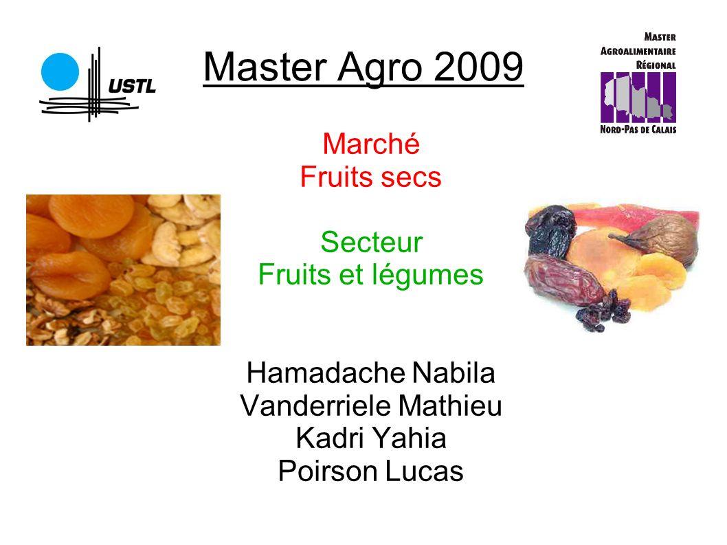 Master Agro 2009 Marché Fruits secs Secteur Fruits et légumes