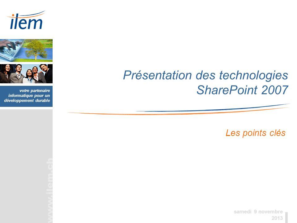 Présentation des technologies SharePoint 2007