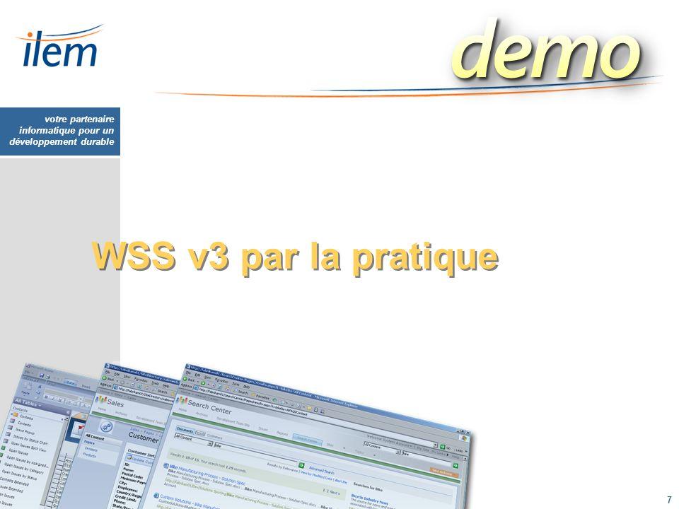 WSS v3 par la pratique