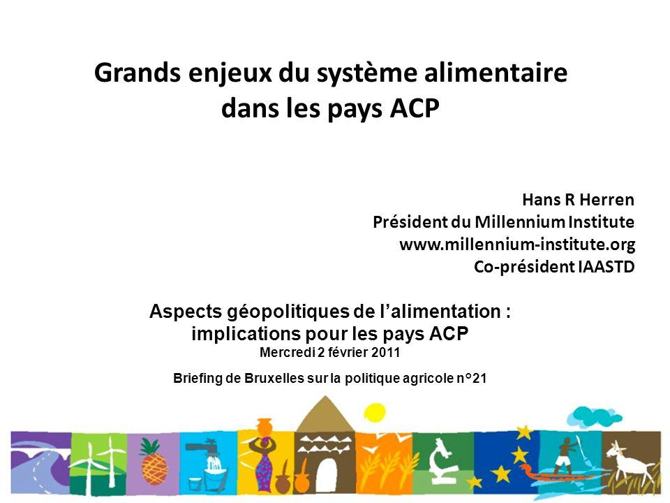 Grands enjeux du système alimentaire dans les pays ACP