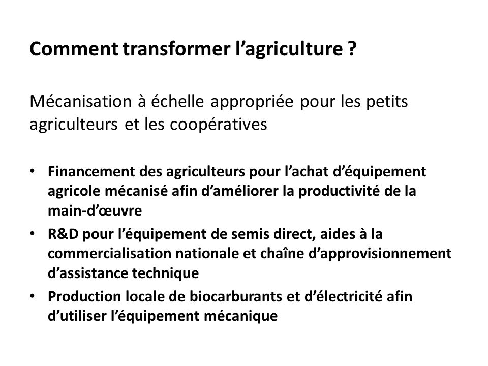 Comment transformer l'agriculture