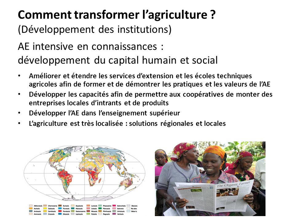 Comment transformer l'agriculture (Développement des institutions)