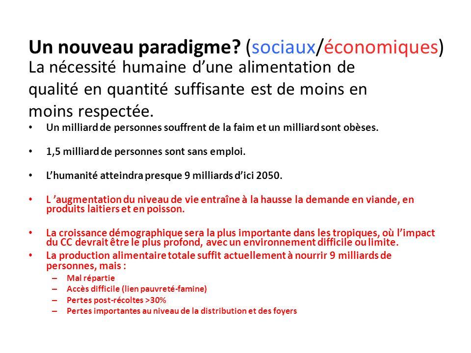 Un nouveau paradigme (sociaux/économiques)