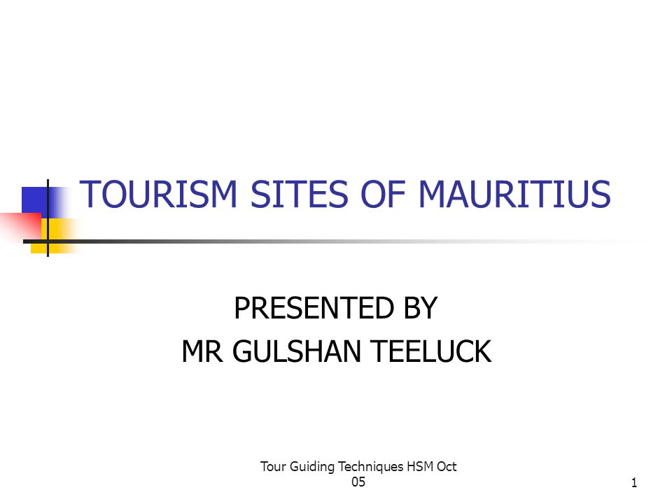 TOURISM SITES OF MAURITIUS