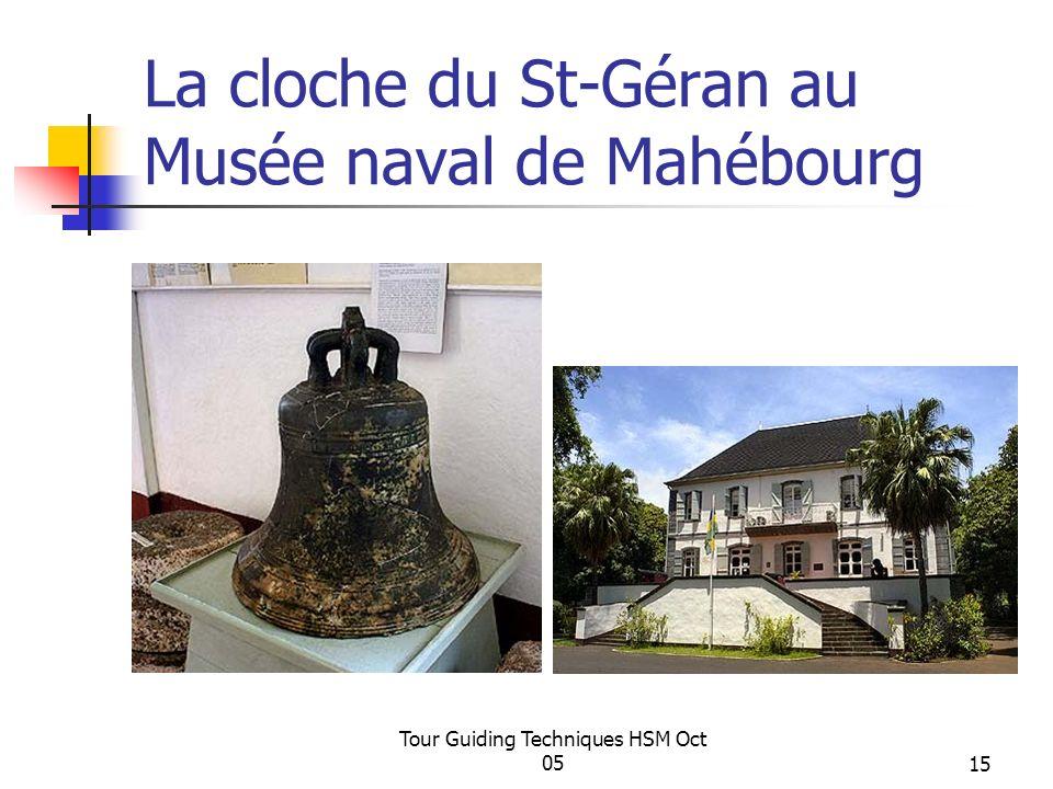 La cloche du St-Géran au Musée naval de Mahébourg
