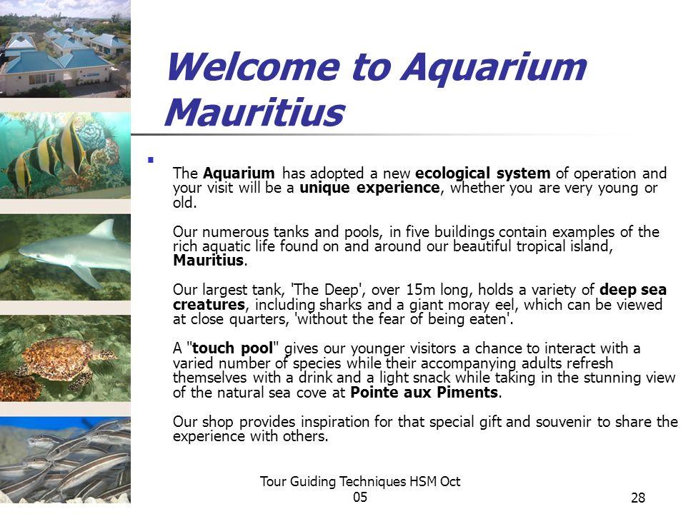 Welcome to Aquarium Mauritius