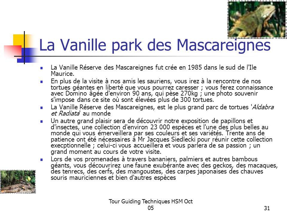La Vanille park des Mascareignes