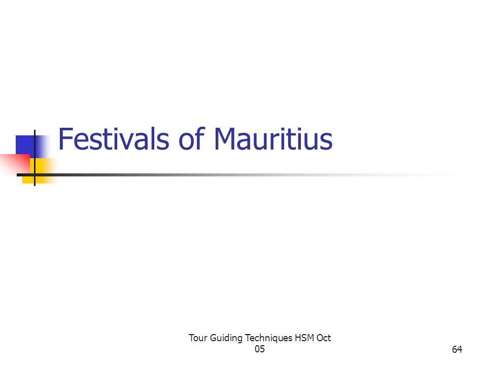 Festivals of Mauritius