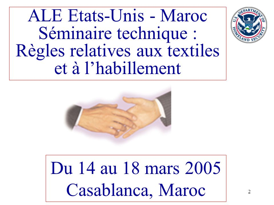 Du 14 au 18 mars 2005 Casablanca, Maroc