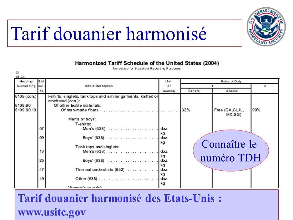 Tarif douanier harmonisé