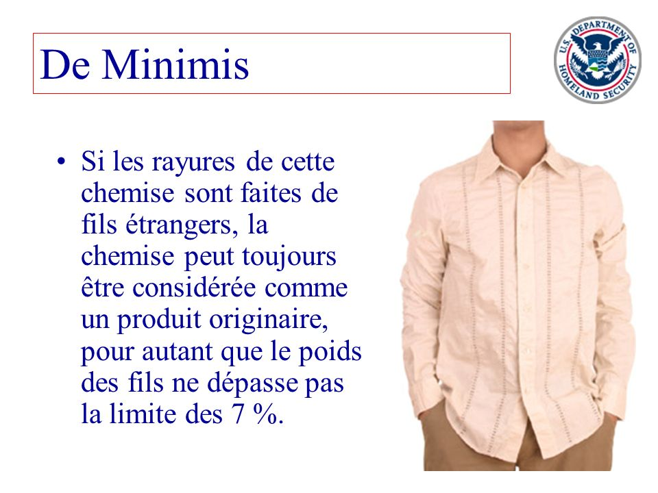 De Minimis