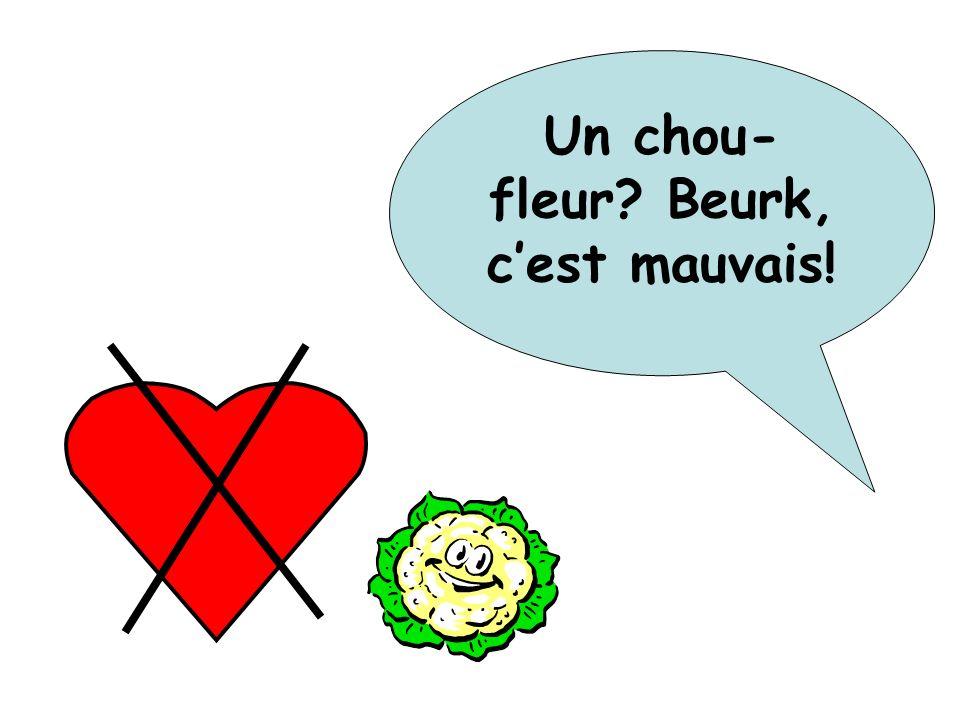 Un chou-fleur Beurk, c'est mauvais!
