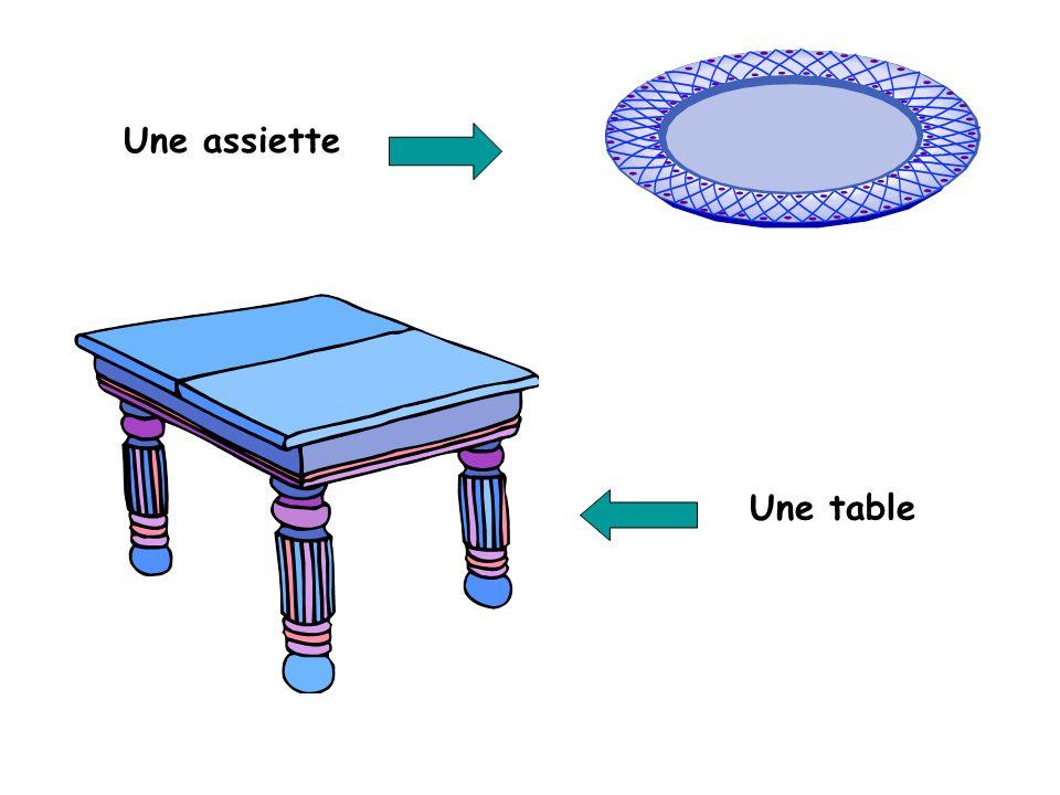 Une assiette Une table