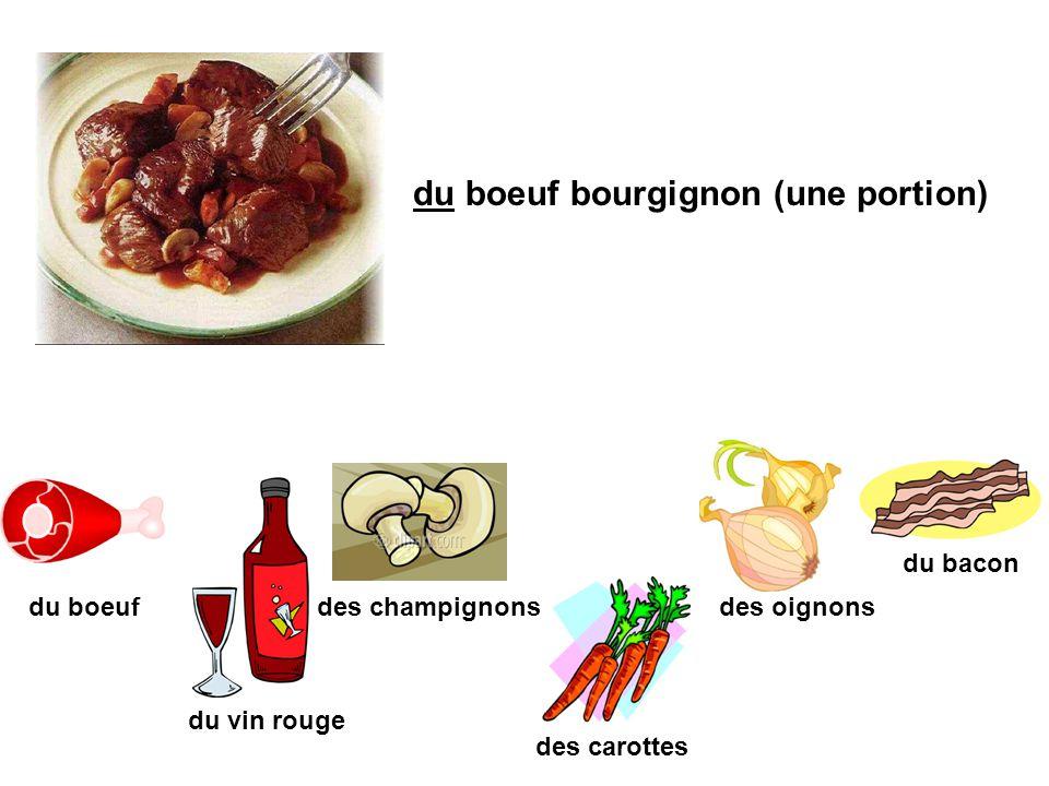 du boeuf bourgignon (une portion)
