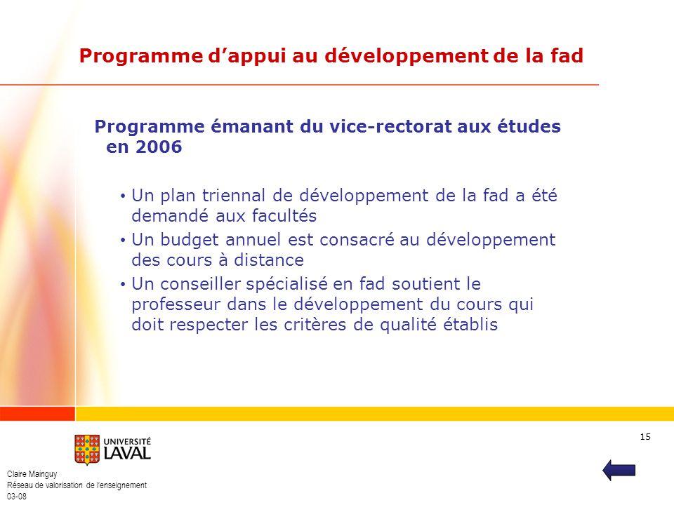Programme d'appui au développement de la fad