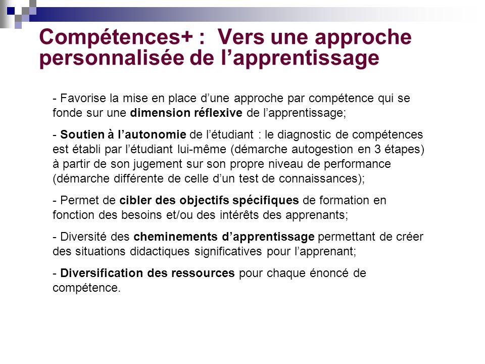 Compétences+ : Vers une approche personnalisée de l'apprentissage