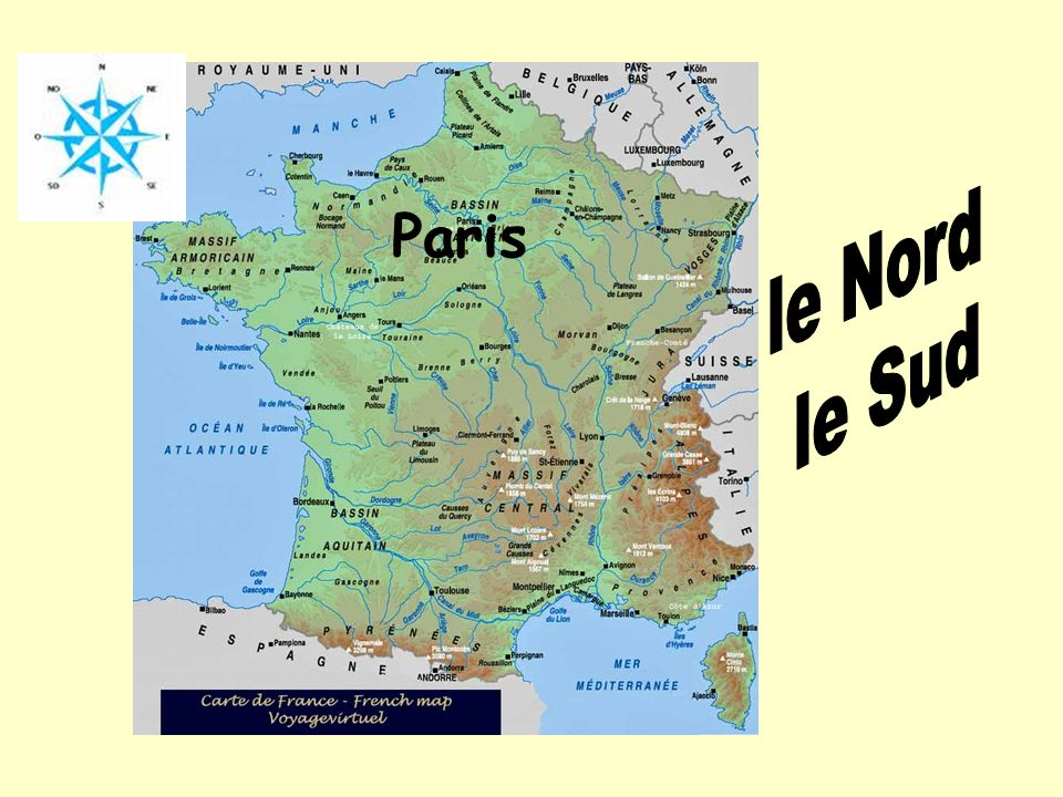 le Nord Paris le Sud