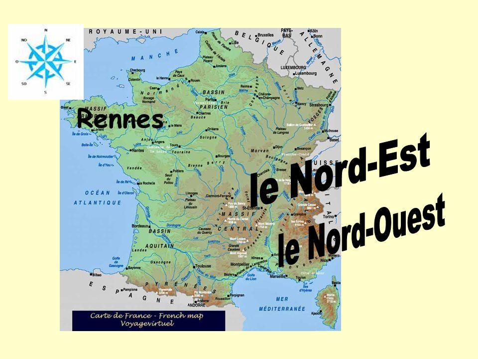 Rennes le Nord-Est le Nord-Ouest